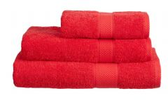 Red 100% Cotton Turkish Ringspun Towel 500 Gsm